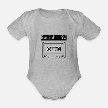 Cassette Year of construction '92 - Organic Short-Sleeved Baby Bodysuit