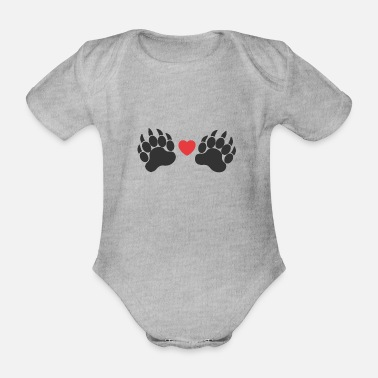 Paw Paws paws - Organic Short-Sleeved Baby Bodysuit
