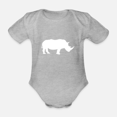 Take rhino - Organic Short-Sleeved Baby Bodysuit