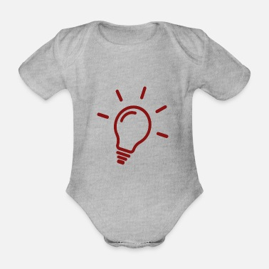 Lamp Lamp - Lamp - Organic Short-Sleeved Baby Bodysuit