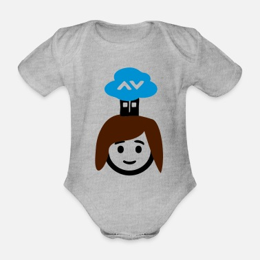 Cloud Clouds - Organic Short-Sleeved Baby Bodysuit