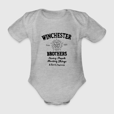 Supernatural Winchester Brothers - Organic Short-sleeved Baby Bodysuit