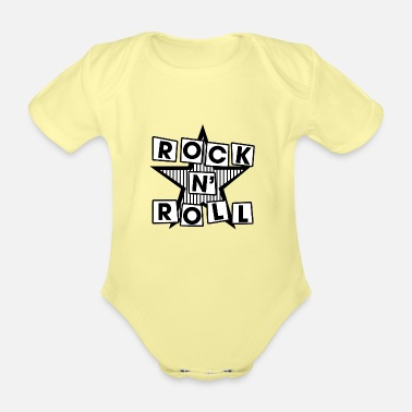 Rock N Roll Rock N 'Roll - Organic Short-Sleeved Baby Bodysuit