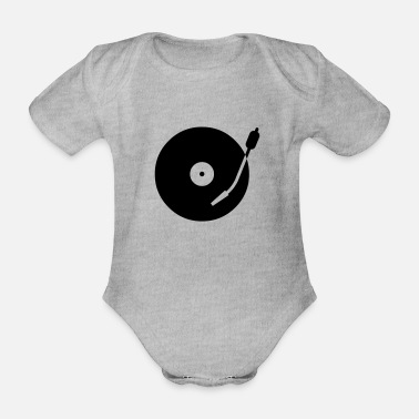 Turntable turntable - Organic Short-Sleeved Baby Bodysuit