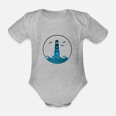 Signpost Lighthouse - Organic Short-Sleeved Baby Bodysuit
