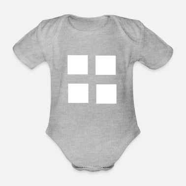 Square Square squares four patterns gift - Organic Short-Sleeved Baby Bodysuit