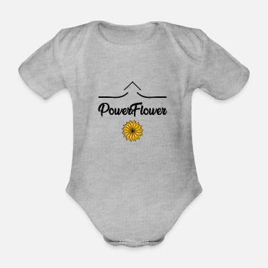 Flower Power Flower POWER - Organic Short-Sleeved Baby Bodysuit
