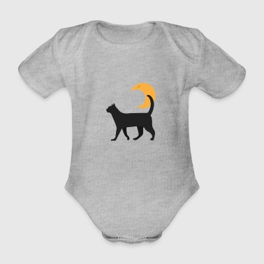 Kitty And The Moon - Body ecologico per neonato a manica corta
