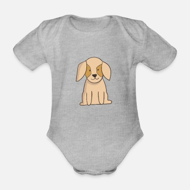 Puppy Puppy - Organic Short-Sleeved Baby Bodysuit