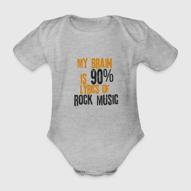 Rockmuziek Rock'n Roll-teksten Songs Hard Rock Metal - Baby bio-rompertje met korte mouwen