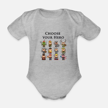 Dungeons And Dragons All 12 classes of Dungeon & Dragons - Organic Short-sleeved Baby Bodysuit