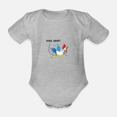Guess What GUESS WHAT? - Organic Short-Sleeved Baby Bodysuit