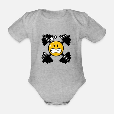 Weight Lifting Smiley Weight Lifting - Body Bébé bio manches courtes