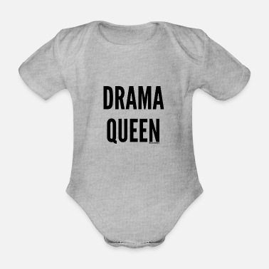 Queen drama - Organic Short-Sleeved Baby Bodysuit