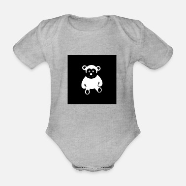 Apelike Monkey monkey cartoon funny gift kids - Organic Short-Sleeved Baby Bodysuit