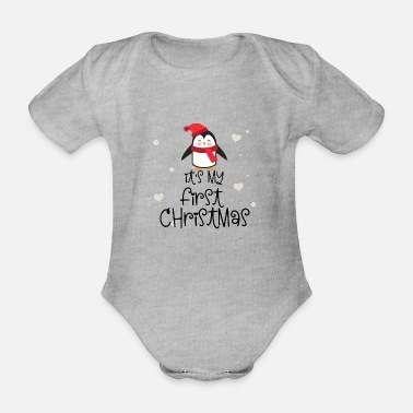 Outfit it's my first christmas - Pinguin - Baby Bio Kurzarmbody