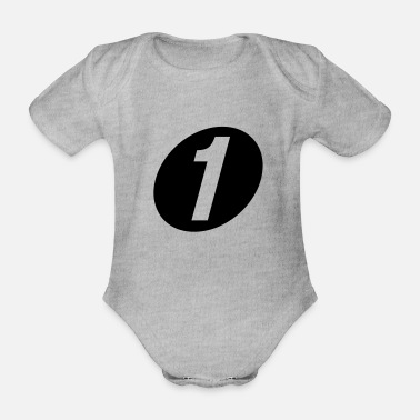 Number One number one - Organic Short-Sleeved Baby Bodysuit