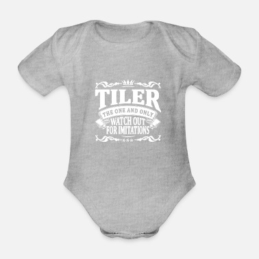 One tiler the one and only - Organic Short-Sleeved Baby Bodysuit
