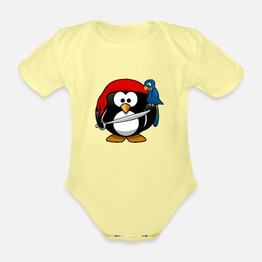 Pirate Pirate pirate pirate - Organic Short-Sleeved Baby Bodysuit
