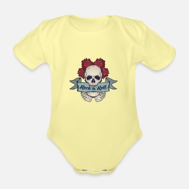 Rock N Roll Rock N Roll - Organic Short-Sleeved Baby Bodysuit