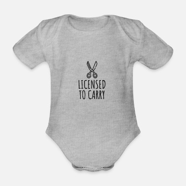 License Licensed To Carry - Organic Short-Sleeved Baby Bodysuit
