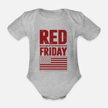 Deployed Are you deployed on friday - Organic Short-Sleeved Baby Bodysuit