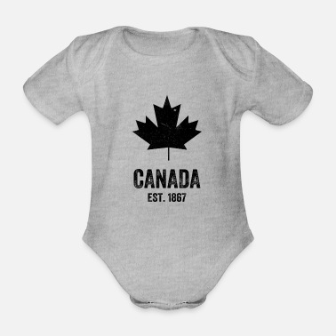 Established Canada Established 1867 - Organic Short-Sleeved Baby Bodysuit