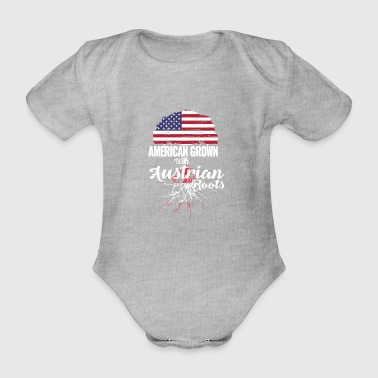 American grown - Austrian roots - Organic Short-sleeved Baby Bodysuit