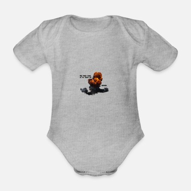 Blow Up My main goal is to blow up - Organic Short-Sleeved Baby Bodysuit