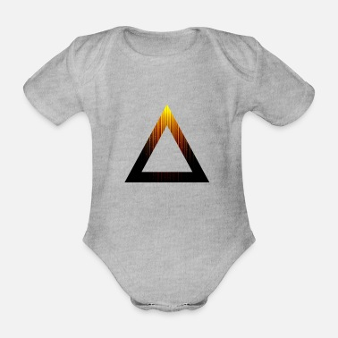 Abstract Abstract Triangle - Organic Short-Sleeved Baby Bodysuit