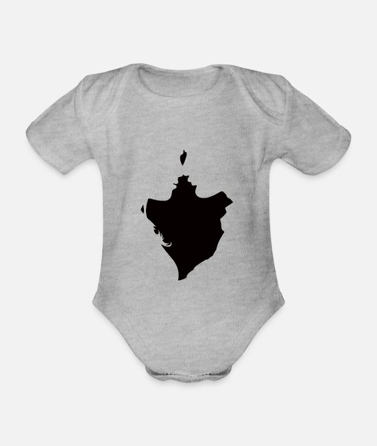 Engagement Baby Bodysuits - lovers - Organic Short-Sleeved Baby Bodysuit heather grey