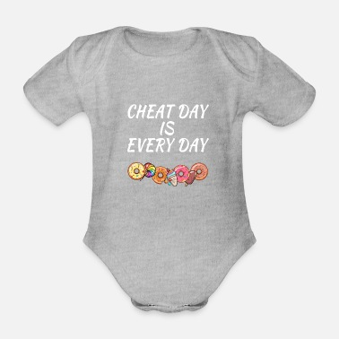 Day Cheat Day is Every Day - Baby bio-rompertje met korte mouwen