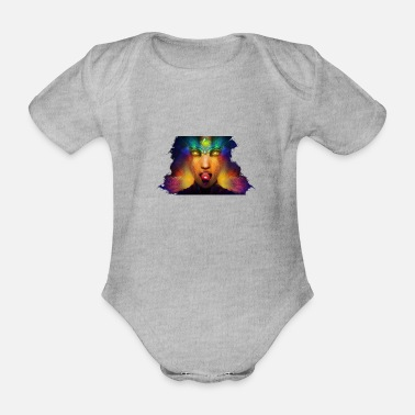 Trippy Trippy woman - Organic Short-Sleeved Baby Bodysuit
