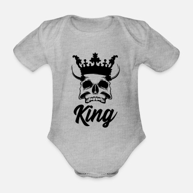 World King of hell King of hell - Organic Short-sleeved Baby Bodysuit