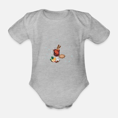 Mulled Wine Mulled wine - Organic Short-Sleeved Baby Bodysuit
