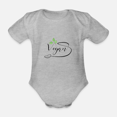 Eco Vegan Shirt · Organic · Eco-Friendly Gift - Organic Short-sleeved Baby Bodysuit