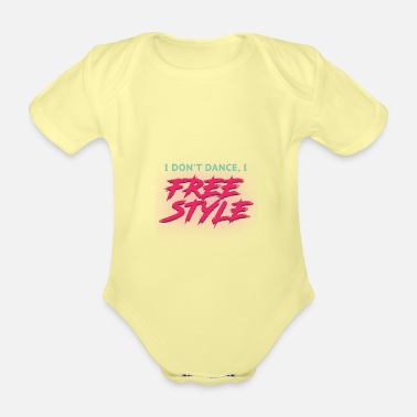 Break Dance break dancing - Organic Short-Sleeved Baby Bodysuit
