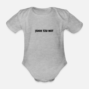 Distress Shih Tzu distress - Organic Short-Sleeved Baby Bodysuit