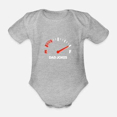 Occasion Jokes Tank is Full of Funny Dad Jokes - Organic Short-Sleeved Baby Bodysuit