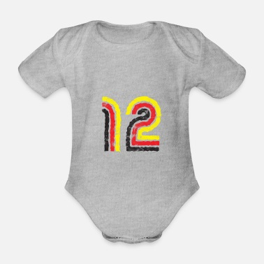 Germany 12 Fan Support Shirt - Body Bébé bio manches courtes