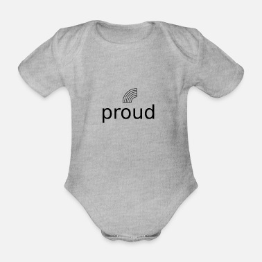 Proud Proud - Organic Short-Sleeved Baby Bodysuit