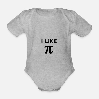 Drink I like pi - Organic Short-Sleeved Baby Bodysuit