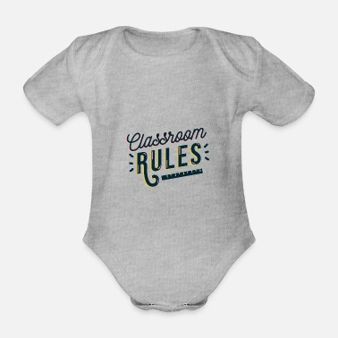 Start Of School Class level vintage school pupil first graders - Organic Short-Sleeved Baby Bodysuit