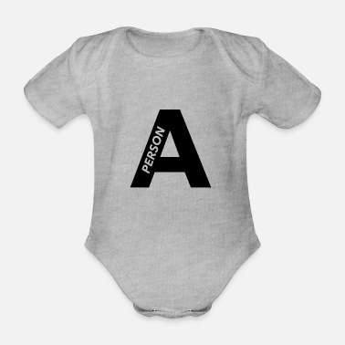 Person Person A - Organic Short-Sleeved Baby Bodysuit