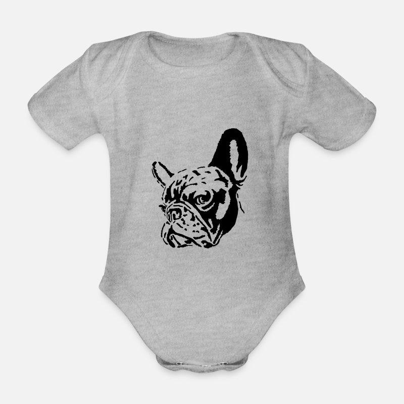 c25d9d9a bulldog Økologisk kortermet babybody   Spreadshirt