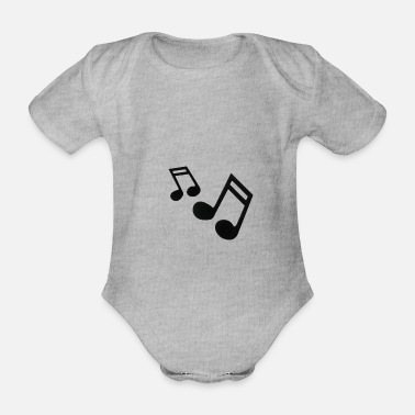 Music Note musical notes musical notes musical notes - Organic Short-Sleeved Baby Bodysuit