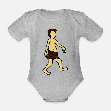 stone_age_man - Organic Short-Sleeved Baby Bodysuit