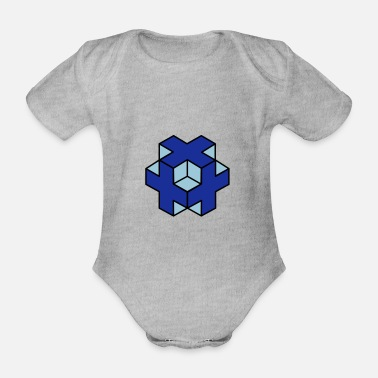 Object 3d object - Organic Short-Sleeved Baby Bodysuit