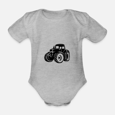 Vehicle tractor - Organic Short-Sleeved Baby Bodysuit