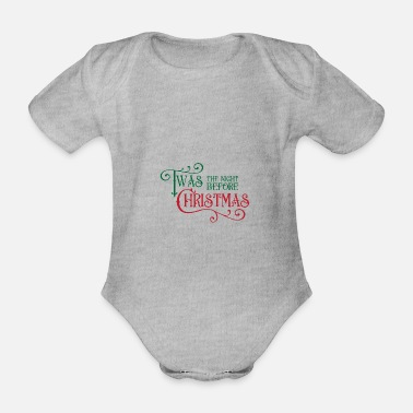 Reindeer The night before Christmas - Organic Short-Sleeved Baby Bodysuit